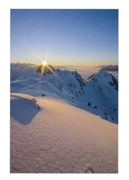 """Bild von Carte de voeux """"Soleil de montagne"""""""
