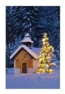 """Bild von Glückwunschkarte """"Weihnachtskapelle"""""""